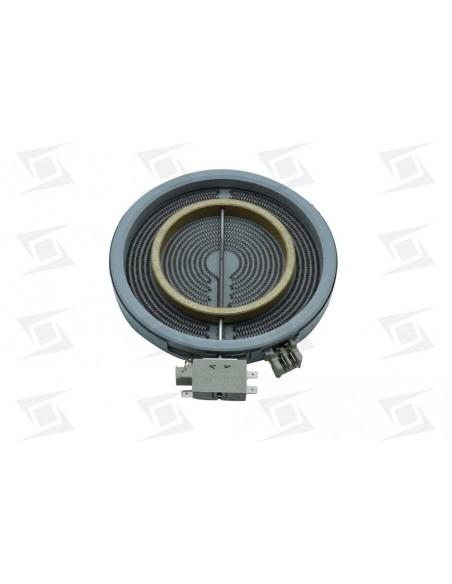 Resistencia Vitro Teka 700+1700w 220v 200mm Doble