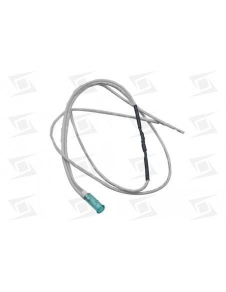 Piloto Luz  6mm Verde Cable 400mm  106ºc 230 V Sta