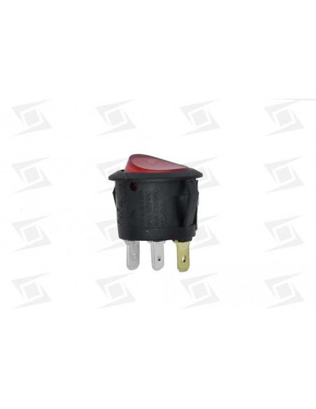 Interruptor Redondo Rojo D23 Mm 16a  3 Faston Sta