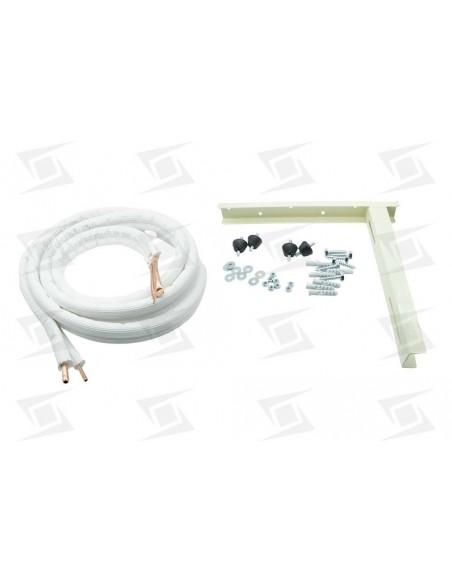Kit Instalacion Montaje Aire Acondicionado (cobre 1-4-3-8  + Silenblock + Soport