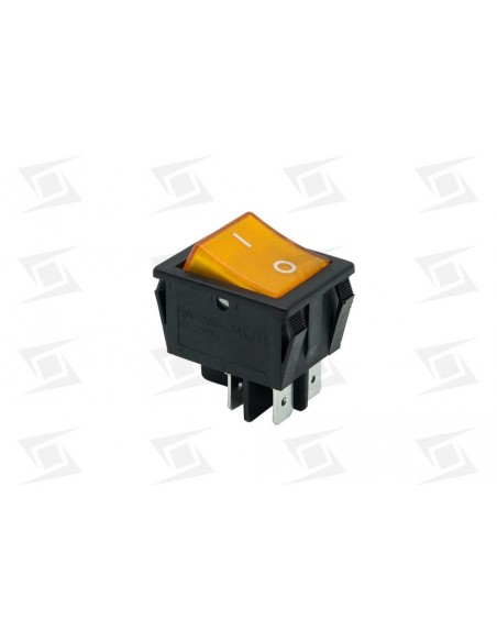 Interruptor Ambar 30x22mm 230v  Bipolar   Alta Calidad