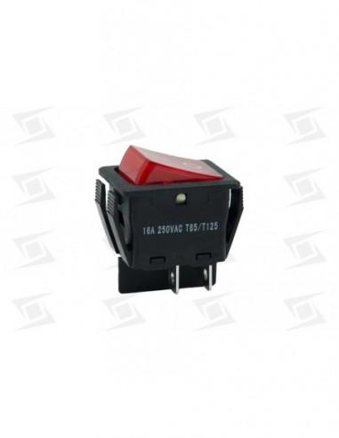 Interruptor Bipolar Estandar  30x22 Rojo  Alta Calidad
